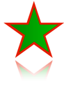 GREEN MOORISH 5 POINTED STAR